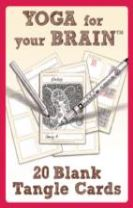 Yoga for Your Brain - 20 Blank Tangle Cards