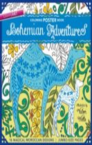 Bohemian Adventures Coloring Poster Book