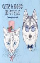 Cats and Dogs in Style - Colouring in Book