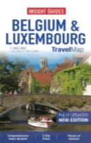 Insight Guides Travel Map Belgium and Luxembourg