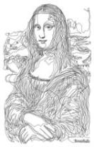 The Dot-to-Dot Mona Lisa Poster