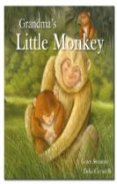Square Paperback Story Book - Grandma's Little Monkey