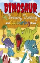 Dinosaur Drawing, Doodling and Colouring Book