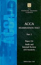 Acca Audit and Internal Review Paper 2.6