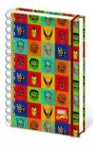 MARVEL FACES A4 NOTEBOOK