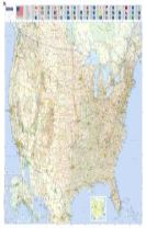 U.S.A - Michelin rolled & tubed wall map Paper