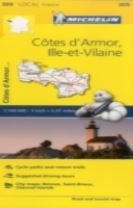 Cotes-d'Armor, Ille-et-Vilaine - Michelin Local Map 309