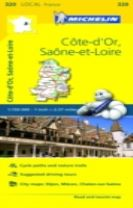 Cote-d'Or, Saone-et-Loire - Michelin Local Map 320
