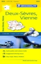 Deux-Sevres, Vienne - Michelin Local Map 322