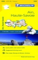Ain, Haute-Savoie - Michelin Local Map 328