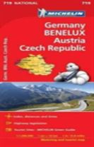 Germany, Benelux, Austria, Czech Republic - Michelin National Map 719