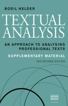 Textual Analysis, supplementary material, 2. udgave