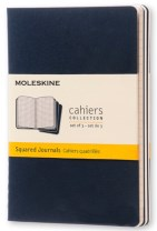 Moleskine Squared Cahier - Navy Cover (3 Set)