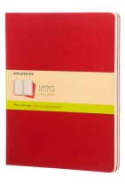 Moleskine Plain Cahier Xl - Red Cover (3 Set)