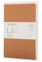 Moleskine Note Card with Envelope - Pocket Kraft Brown