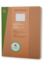 Extra Large Ruled Kraft Soft Evernote Journal with Smart Stickers 2 Set