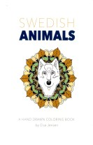Swedish animals : a hand drawn coloring book