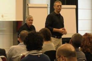 Andrea Frausin e Frank Pucelik in azione