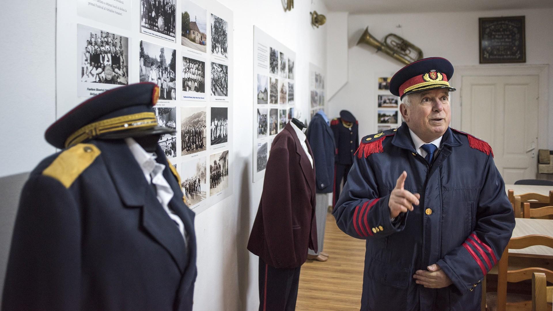 Voicu Cioara, președintele Asociației Fanfara din Petrești