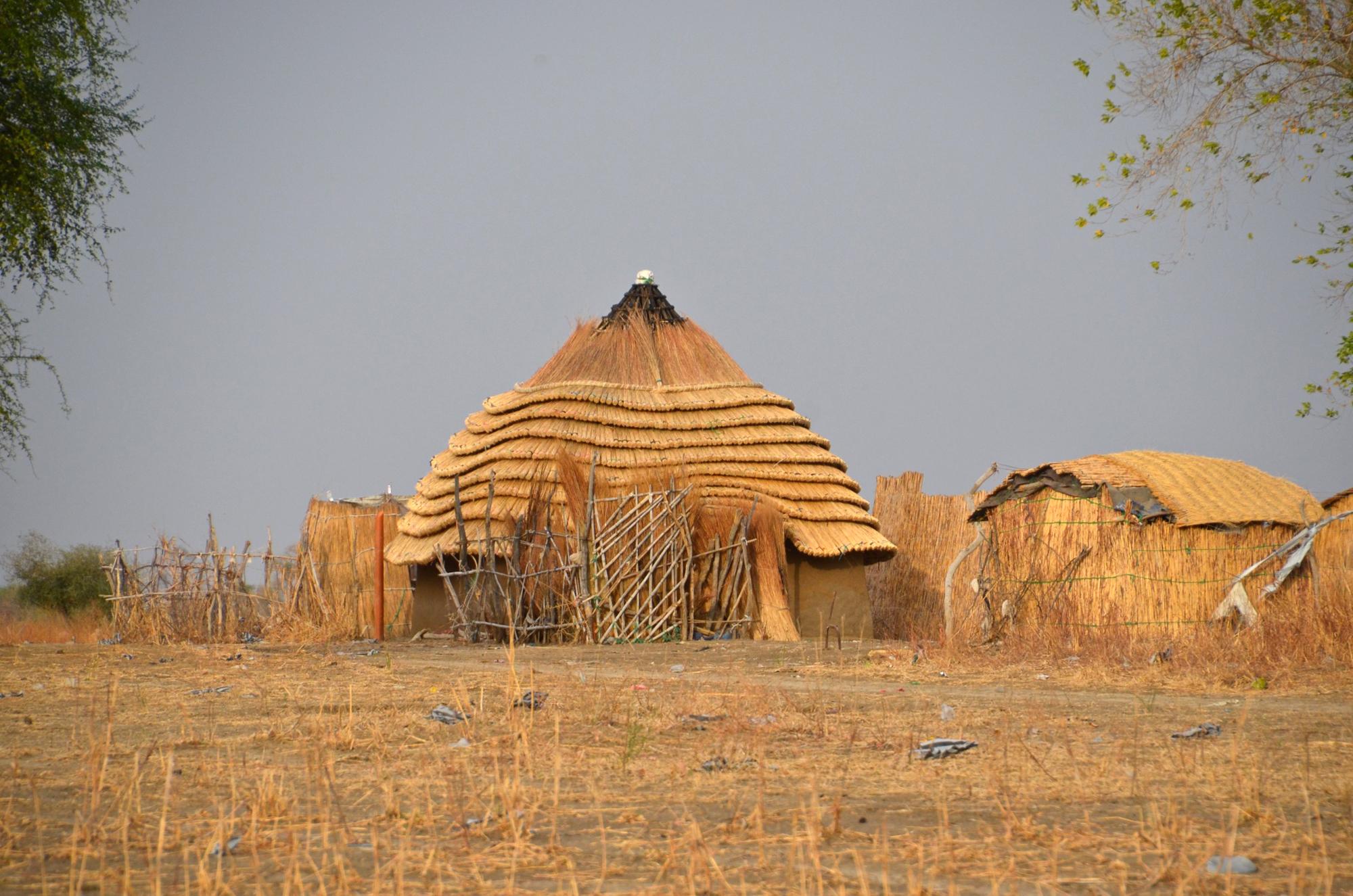 Locuințe din Agok, Sudanul de Sud