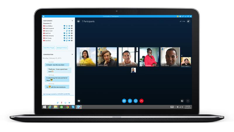 Schermata skype da desktop