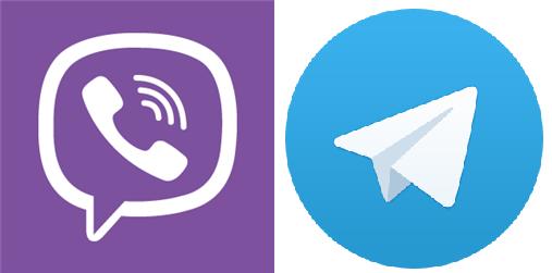 loghi di Viber e Telegram
