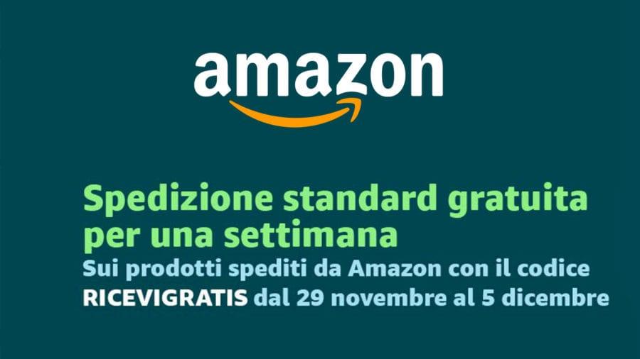 d521c8458e74c2 Amazon, spedizioni gratuite per tutti con il codice 'Ricevigratis'