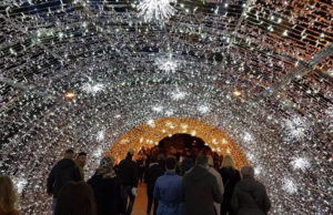 tunnel di luce a genova per natale