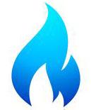 allaccio gas e luce, simbolo fiamma blu gas