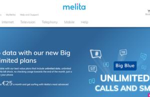 home page del sito melita nuovo operatore