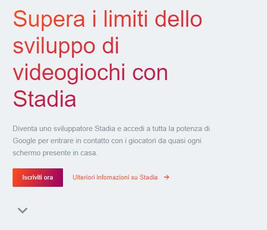 sito di google Stadia