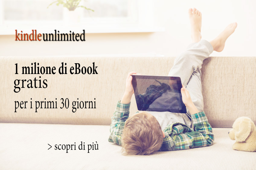 bimbo che legge ebook kindle gratis