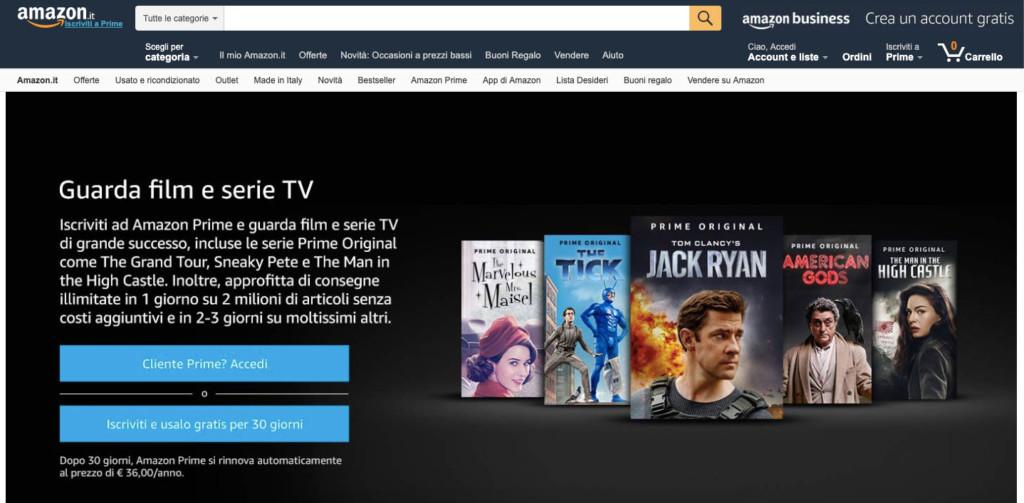 Attivare Amazon Prime