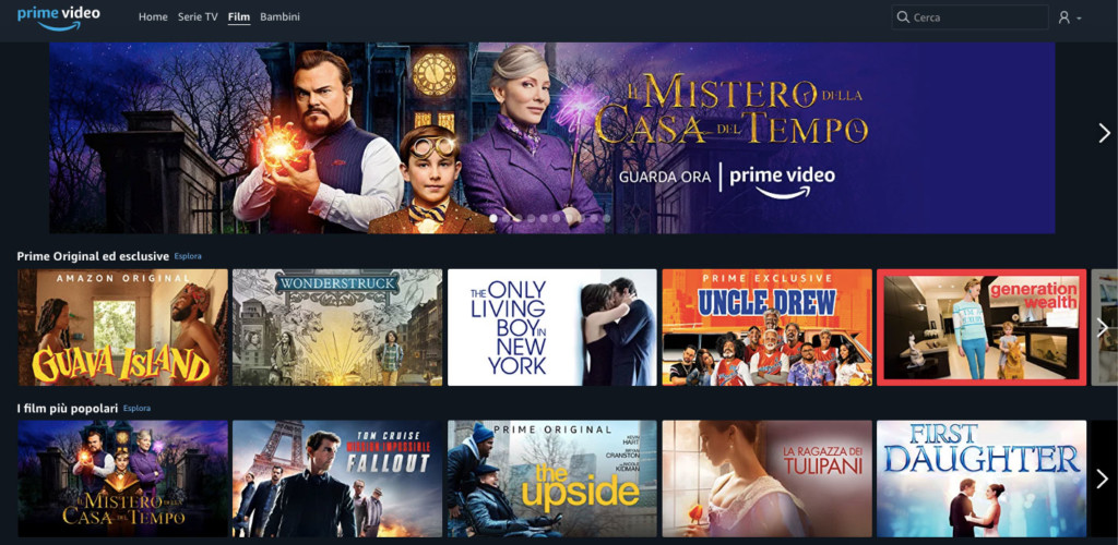 Amazon Prime Video Catalogo Film