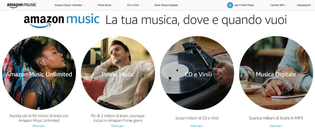 Amazon Music su web