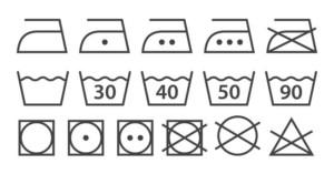 Simboli lavaggio lavatrice asciugatrice capi vestiti