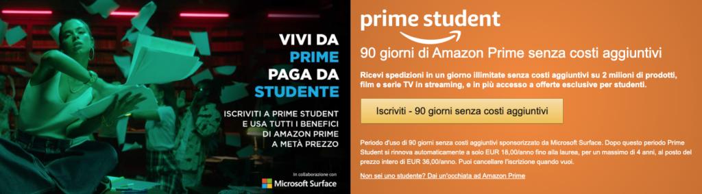 Amazon Prime Student - Informazioni