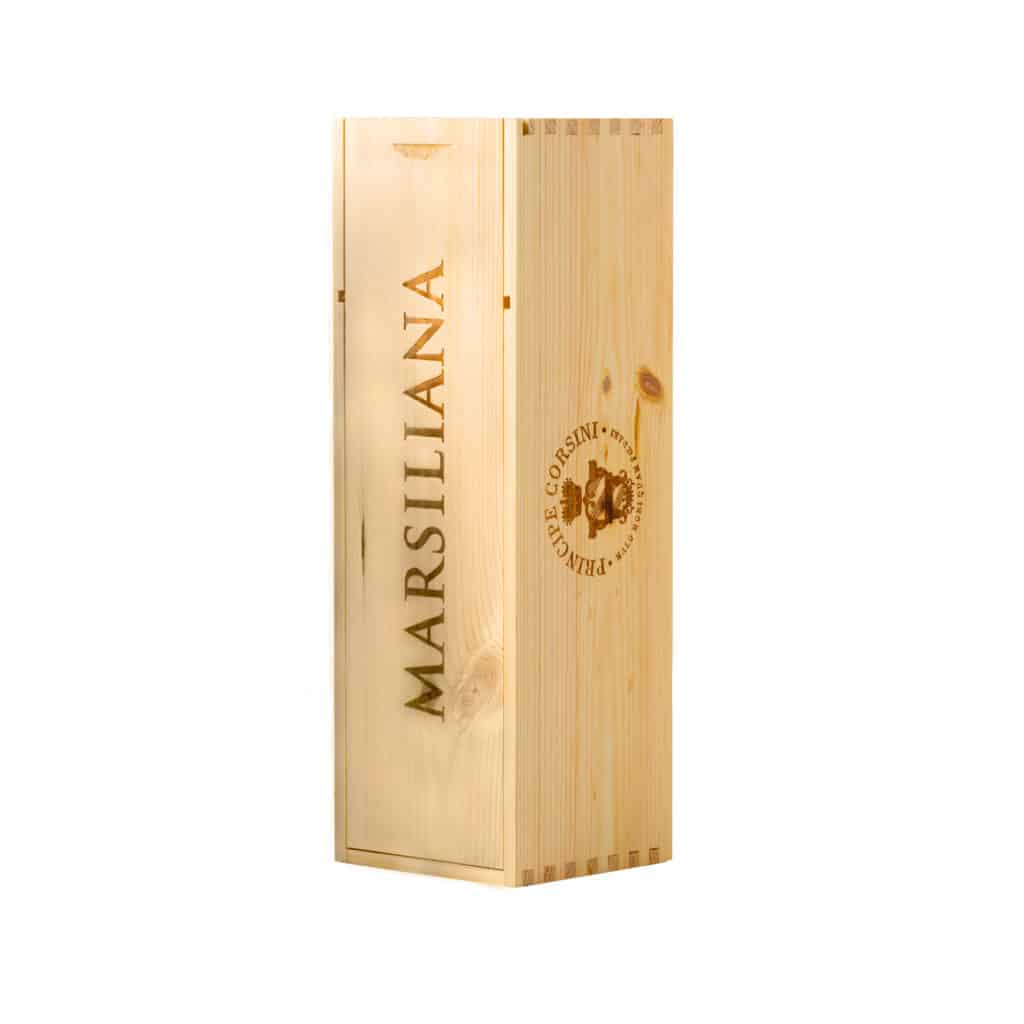 Cassetta di Legno per bottiglia Magnum 1,5 L Marsiliana