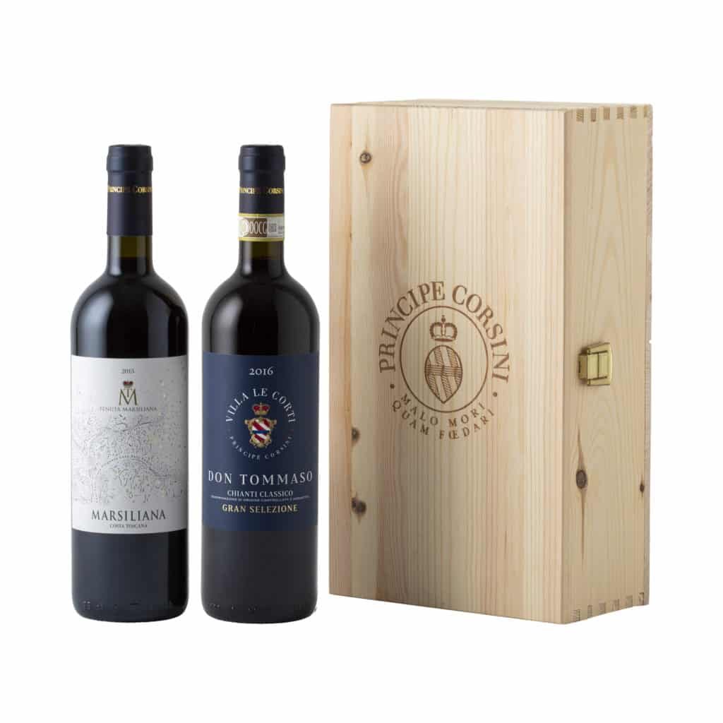 Don Tommaso 2015 + Marsiliana 2015 + Wooden Box