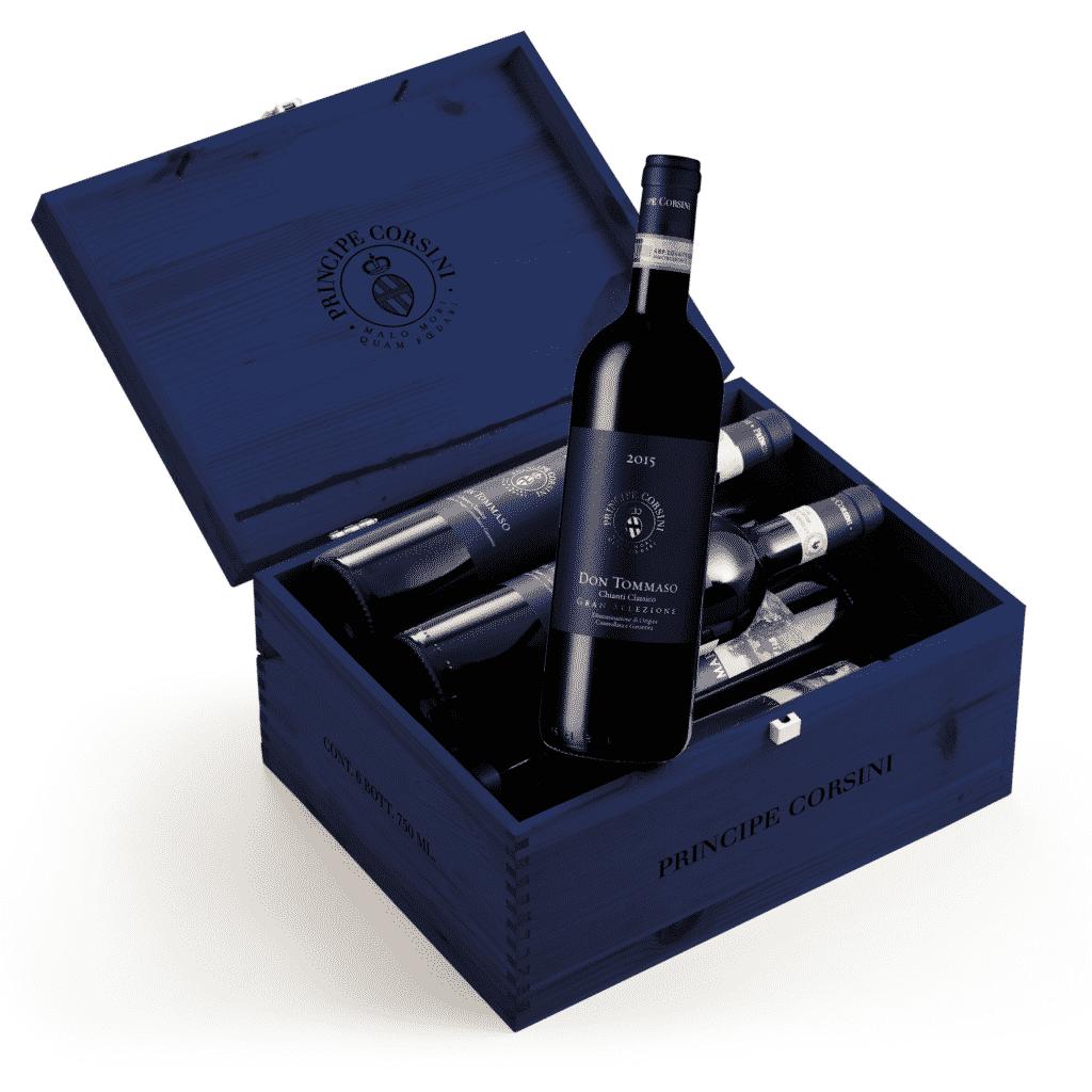 6 Bott. Don Tommaso Chianti Classico Gran Selezione DOCG + Cassetta di Legno