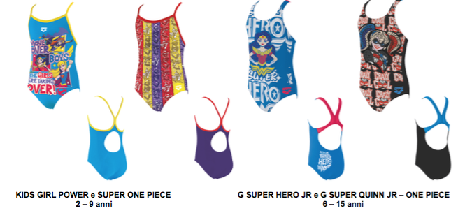64ef7bfda4af ... Harley Quinn e Wonder Woman – per le femminucce: la collezione junior  di arena si ispira a questi impavidi personaggi che da sempre animano la  fantasia ...