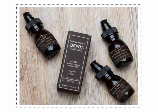 DEPOT presenta il n. 505 CONDITIONING BREARD OIL: l'olio condizionante specifico per la barba