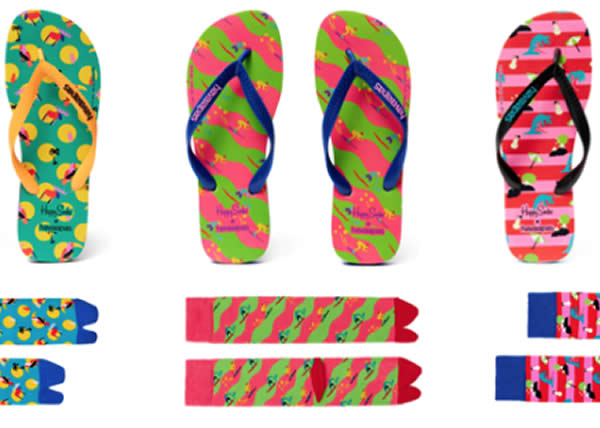 Havaianas e Happy Socks: l'estate continua tutto l'anno!
