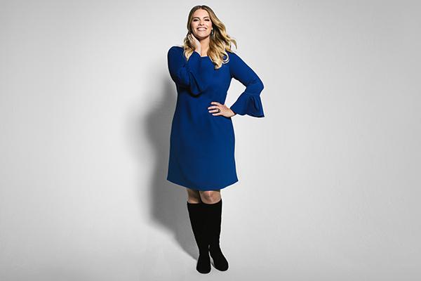 Die Kollektion umfasst schicke Kleider in den Größen 44 bis 54.
