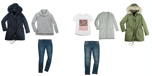 Die Kollektionsteile bieten lässige, schicke und moderne Kleidungsstücke. Ein Outfit kostet unter 100 Euro.