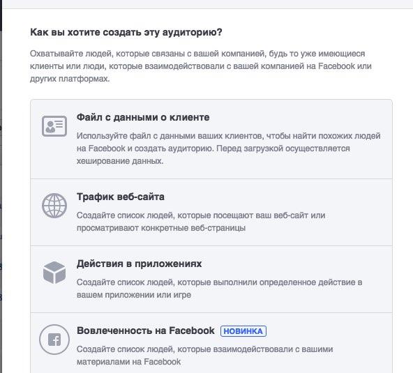 Таргетинг Аудитории Facebook