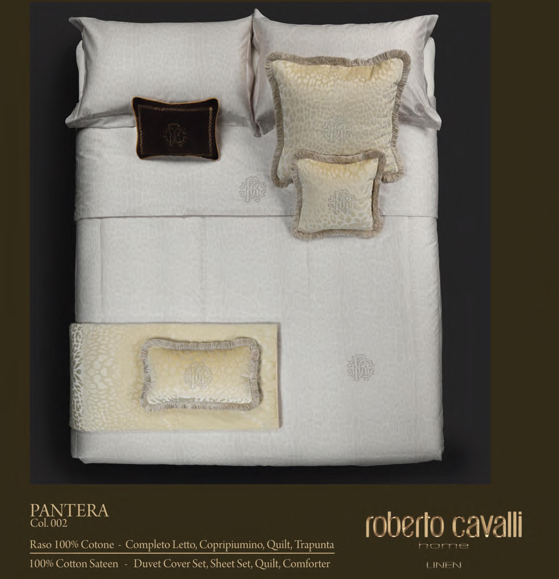 Copripiumino Matrimoniale Con Cavalli.Collezione Pantera Roberto Cavalli Home In Omaggio Set Spugna 1