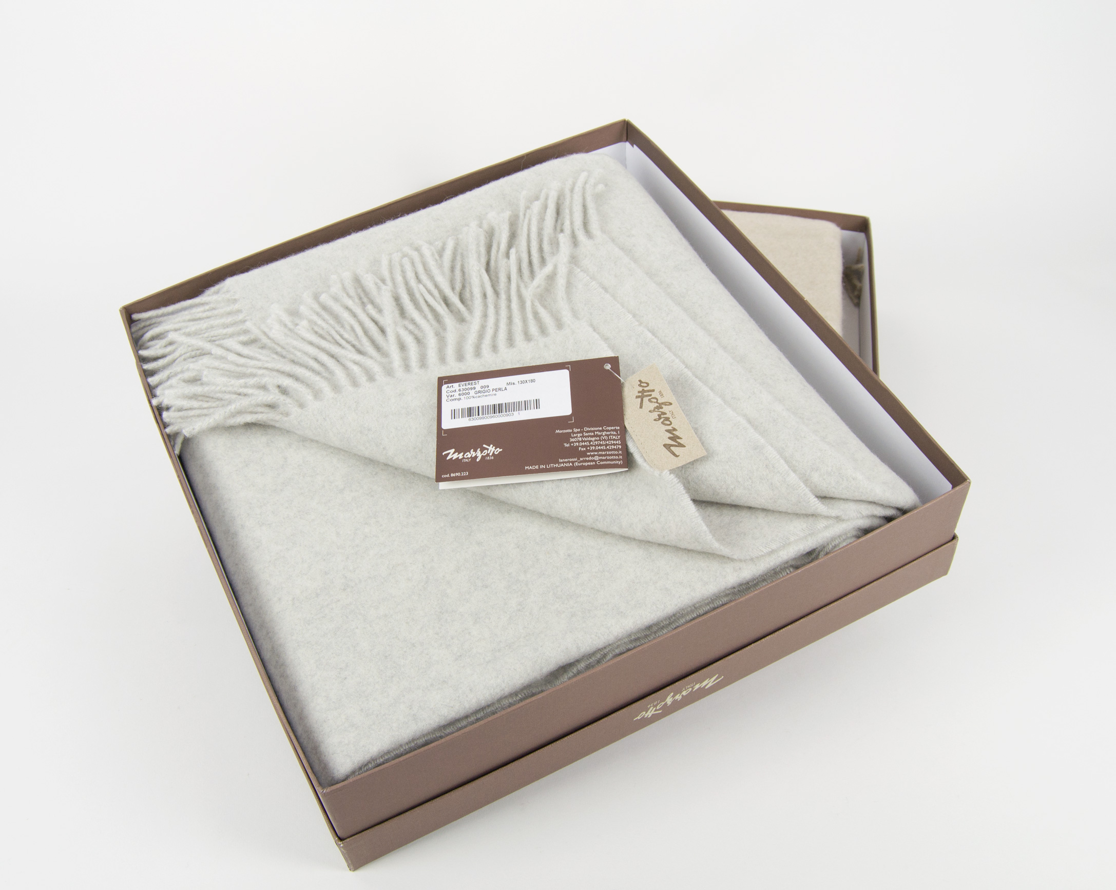 Plaid in puro cashmere Marzotto mod. - Everest - Punto Bianco 723b16d2799