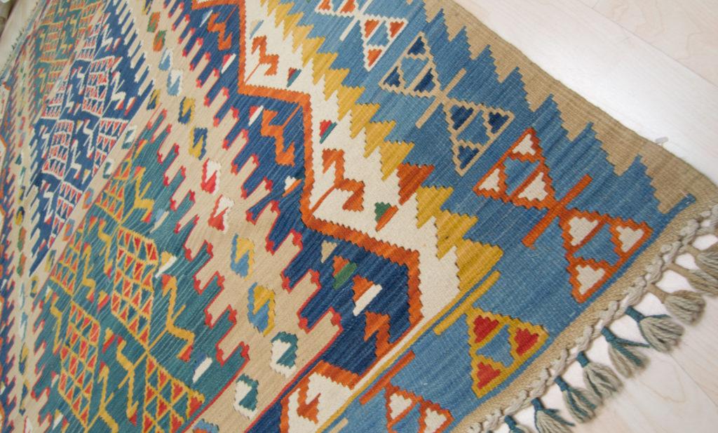 Tappeto kilim turchia mis extra 287x194 in pura lana punto bianco - Tappeti anallergici ...