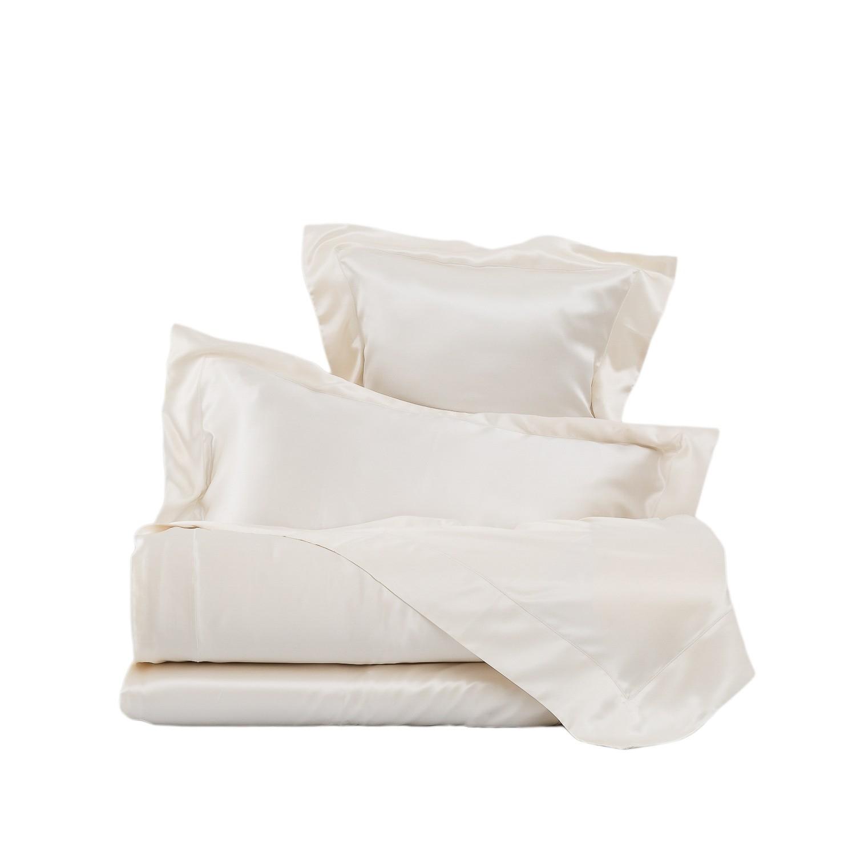 Completo lenzuola in pura seta la perla mod afrodite - Completo letto matrimoniale seta ...